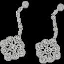 Earrings 18K White Gold