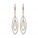 Earrings 14K Tri-Color Gold