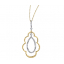Pendant 14K Two-Tone Gold