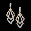 Earrings 14K Two-Tone Gold