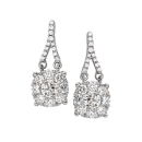 Earrings 14K White Gold