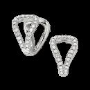 Earrings 14K White Gold