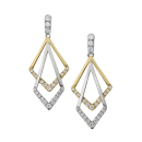 Earrings 14K Two-Tone Gold